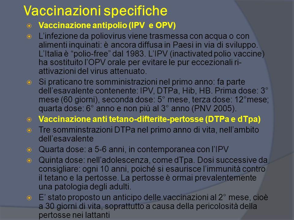 Vaccinazioni specifiche