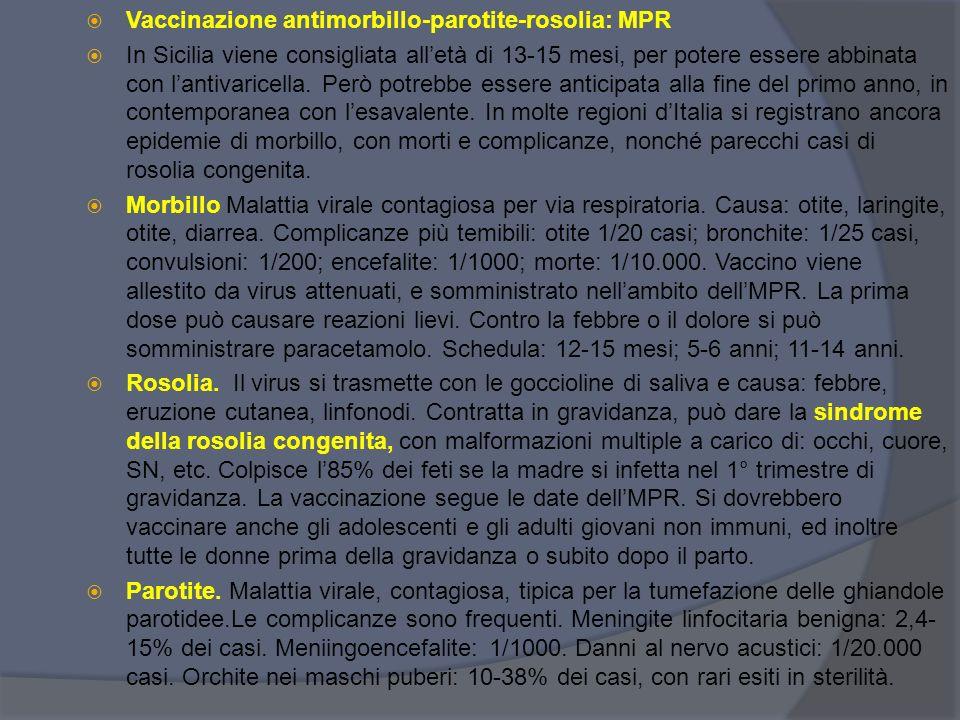 Vaccinazione antimorbillo-parotite-rosolia: MPR