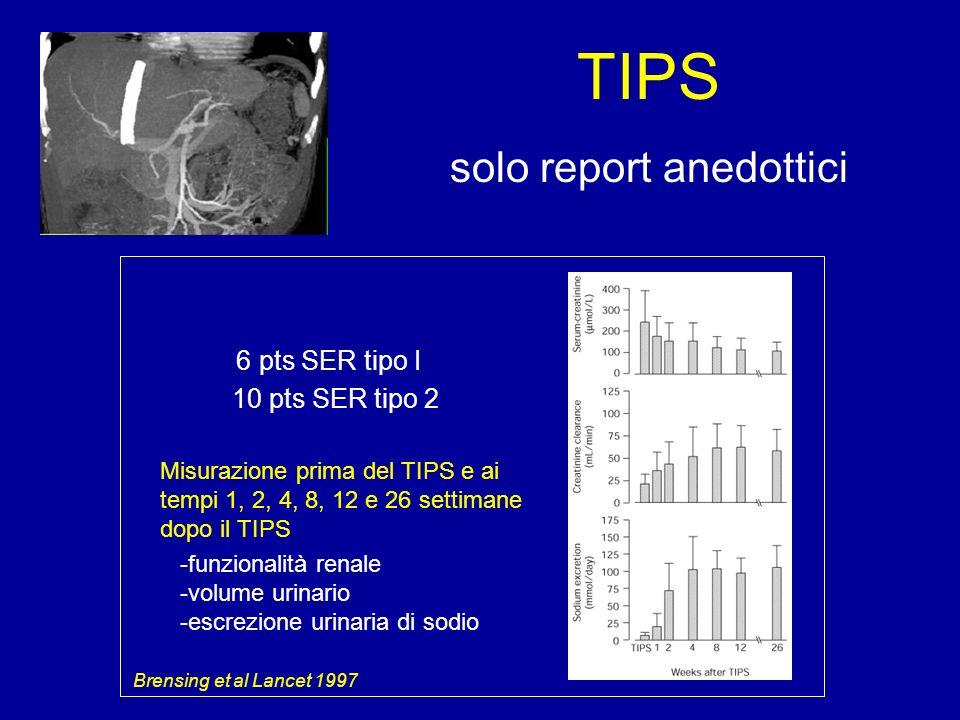TIPS solo report anedottici 10 pts SER tipo 2