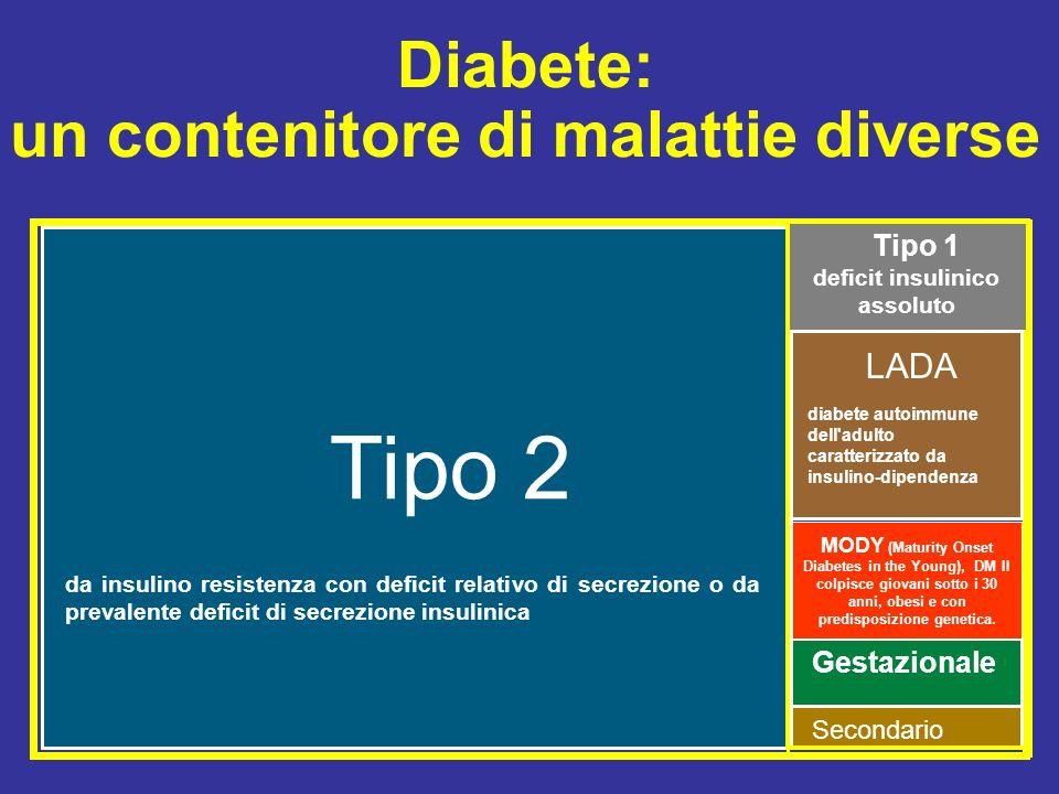 un contenitore di malattie diverse deficit insulinico assoluto