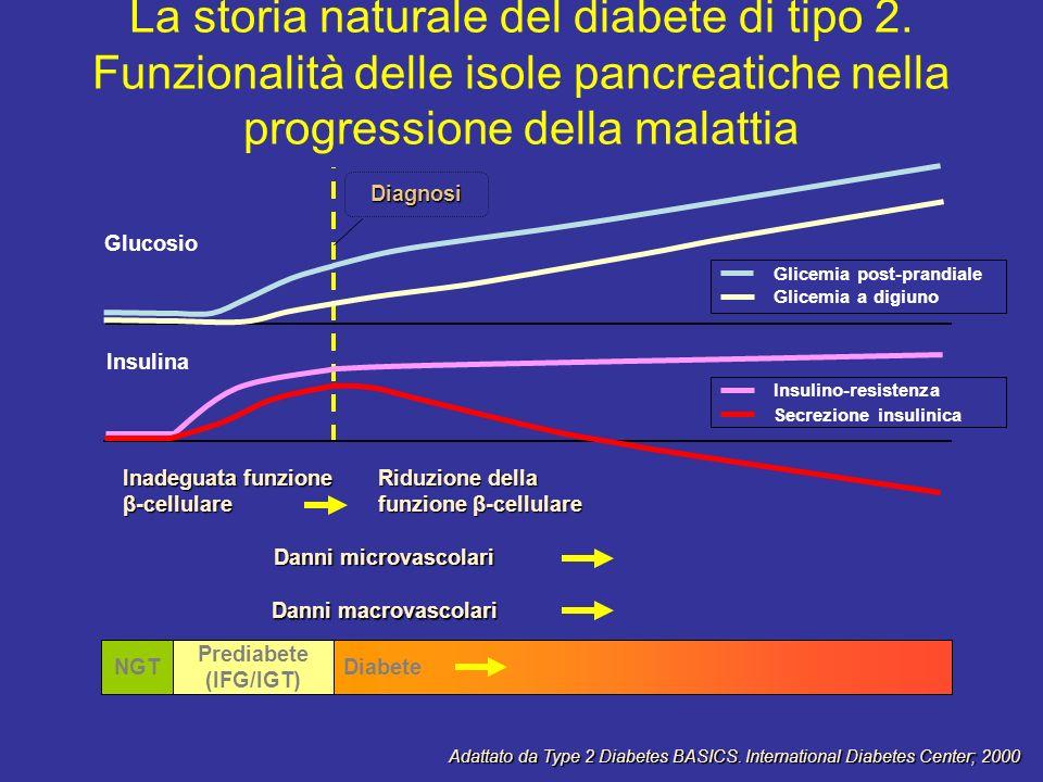 La storia naturale del diabete di tipo 2