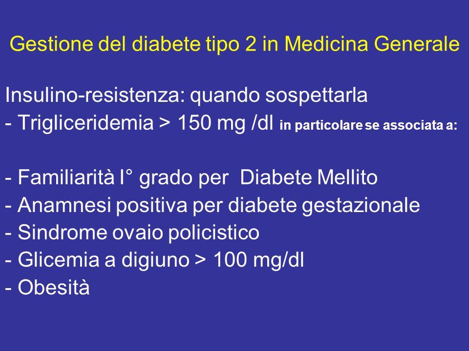 Gestione del diabete tipo 2 in Medicina Generale
