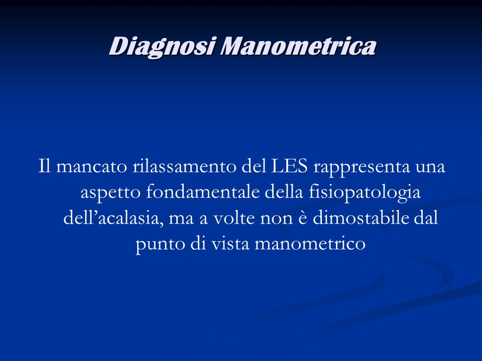 Diagnosi Manometrica
