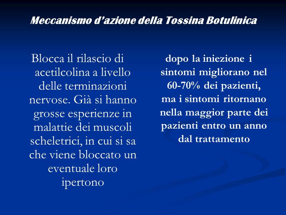 Meccanismo d'azione della Tossina Botulinica