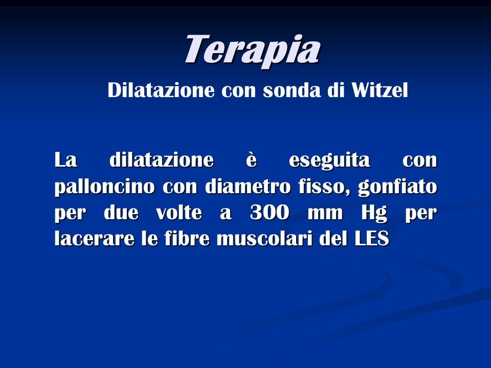 Terapia Dilatazione con sonda di Witzel