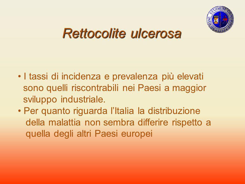 Rettocolite ulcerosa I tassi di incidenza e prevalenza più elevati