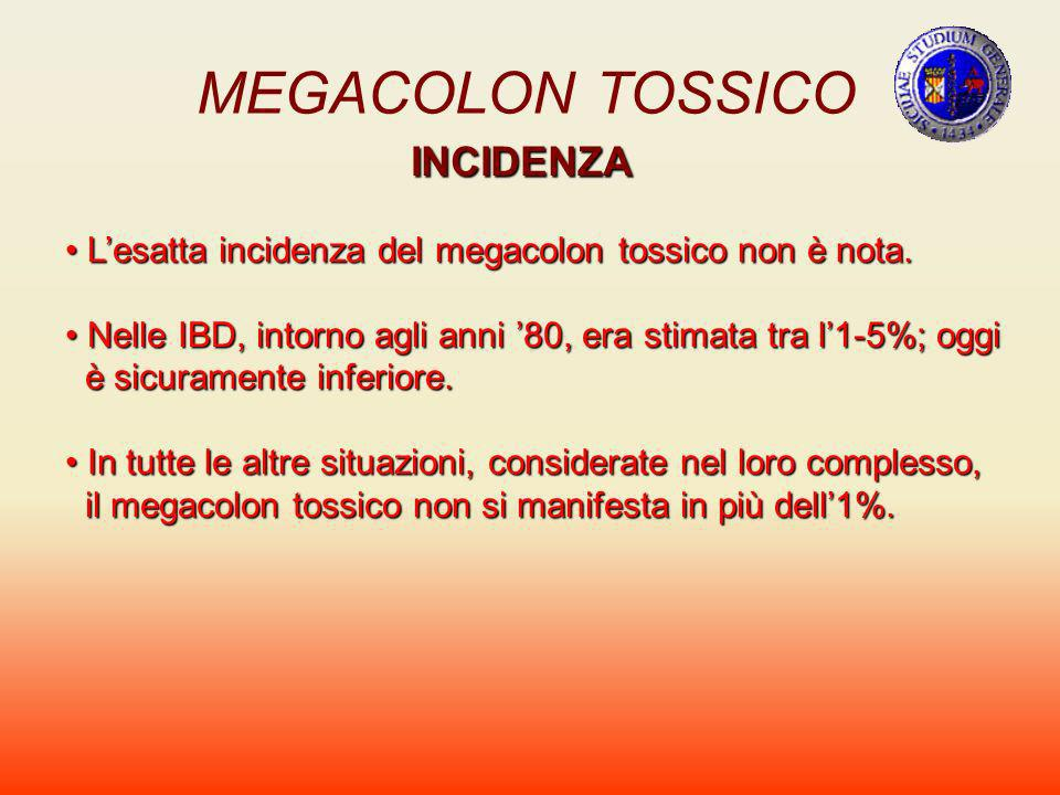 MEGACOLON TOSSICO INCIDENZA