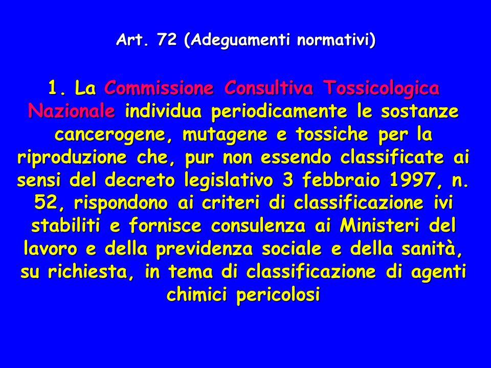 Art. 72 (Adeguamenti normativi)