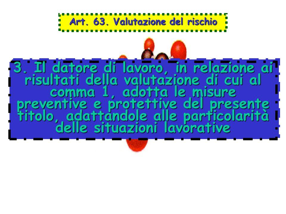Art. 63. Valutazione del rischio