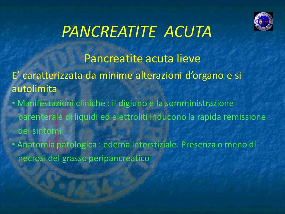 Pancreatite acuta lieve