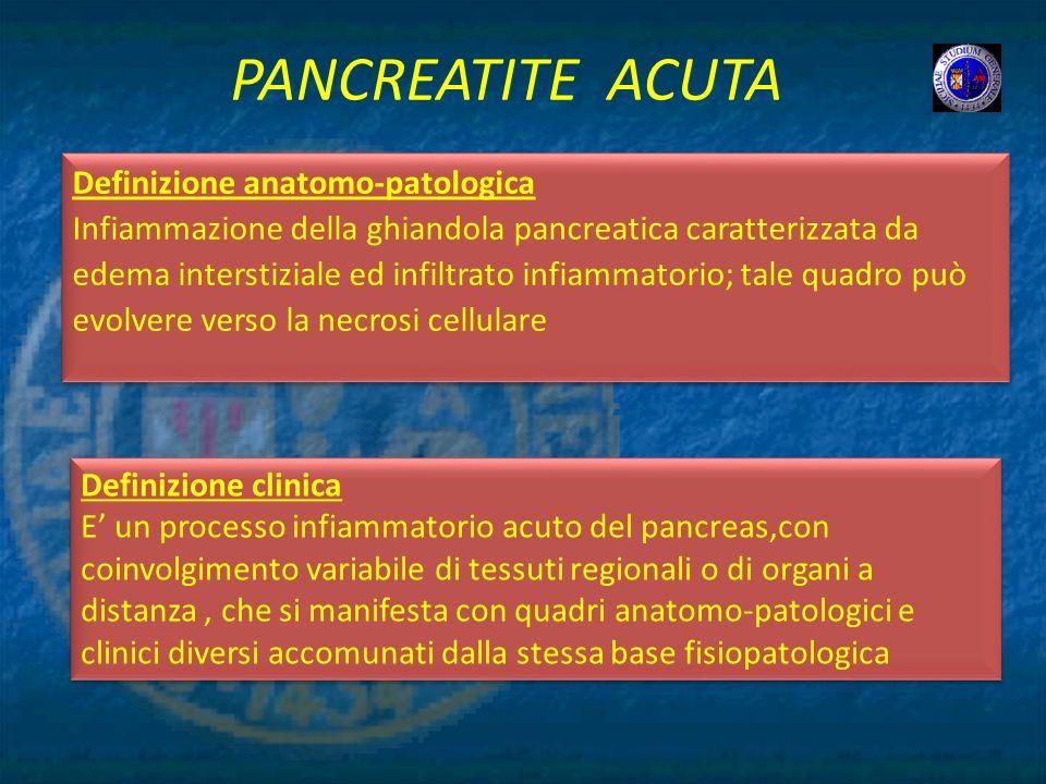PANCREATITE ACUTA Definizione anatomo-patologica
