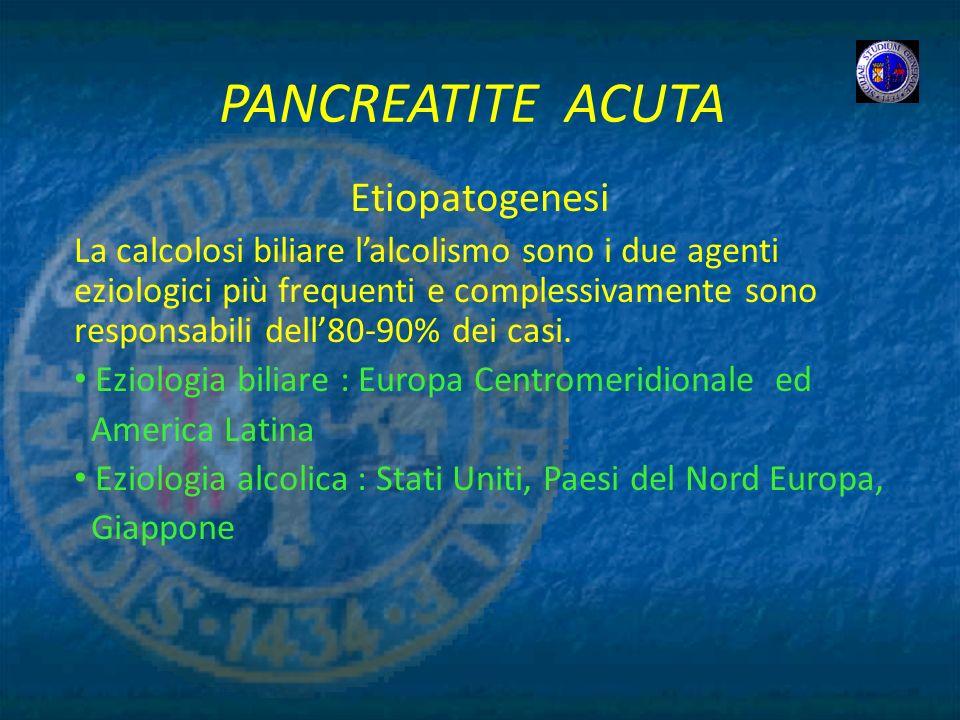 PANCREATITE ACUTA Etiopatogenesi