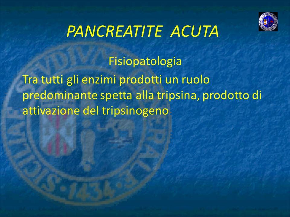 PANCREATITE ACUTA Fisiopatologia