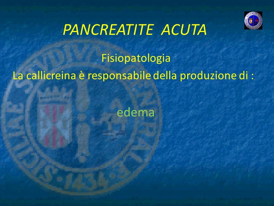 PANCREATITE ACUTA edema Fisiopatologia