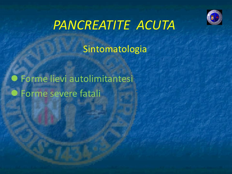 Sintomatologia Forme lievi autolimitantesi Forme severe fatali