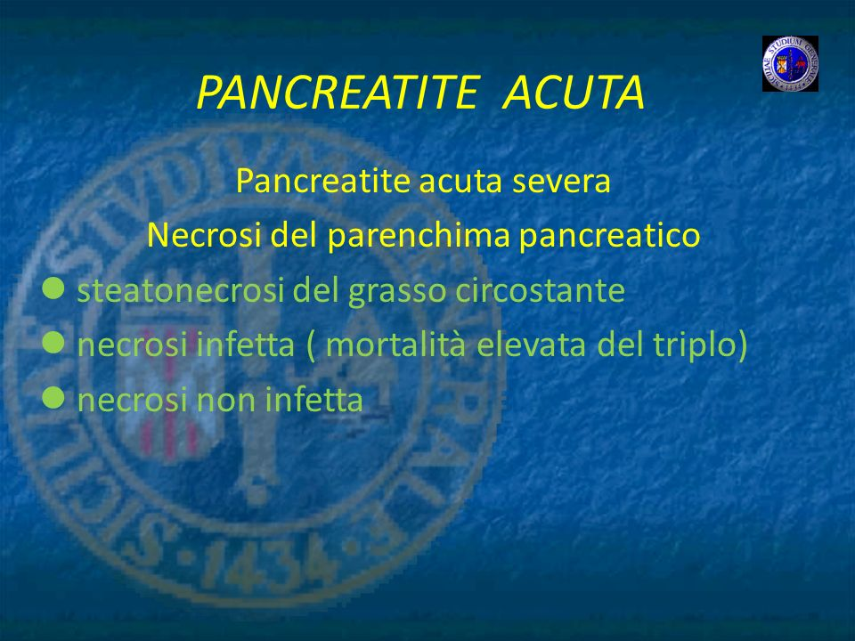 PANCREATITE ACUTA Pancreatite acuta severa