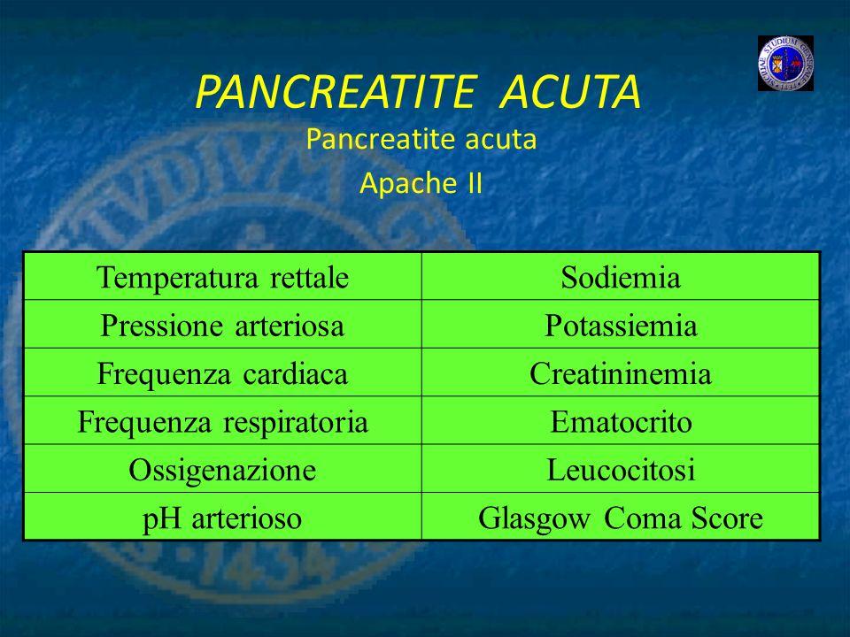Pancreatite acuta Apache II