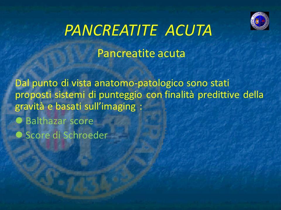 PANCREATITE ACUTA Pancreatite acuta