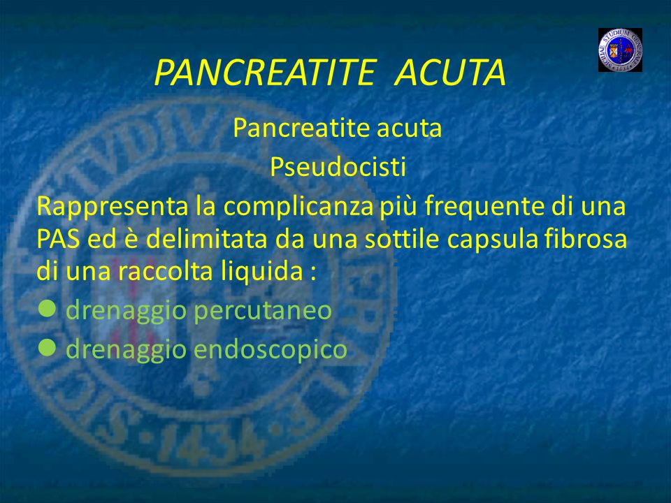 PANCREATITE ACUTA Pancreatite acuta Pseudocisti