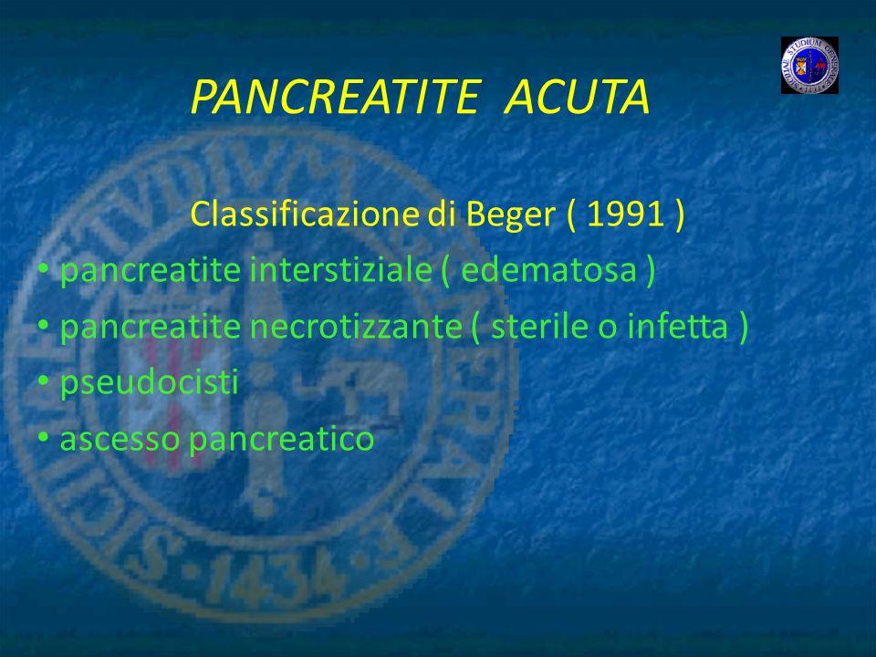 Classificazione di Beger ( 1991 )