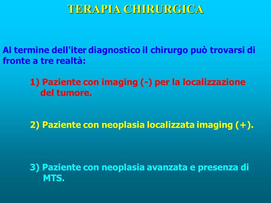 TERAPIA CHIRURGICA Al termine dell iter diagnostico il chirurgo può trovarsi di fronte a tre realtà: