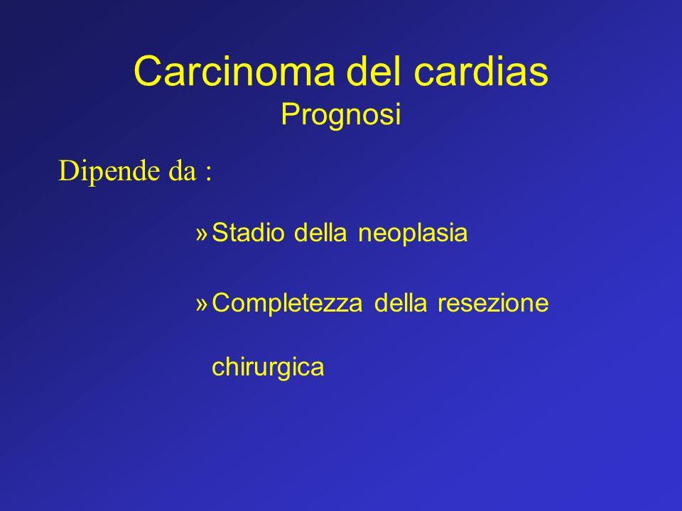Carcinoma del cardias Prognosi