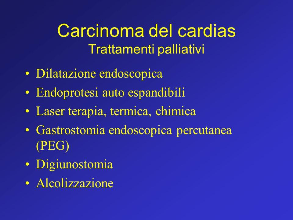 Carcinoma del cardias Trattamenti palliativi