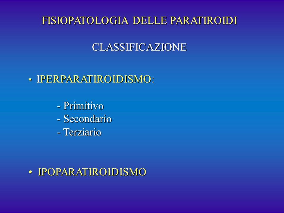 FISIOPATOLOGIA DELLE PARATIROIDI