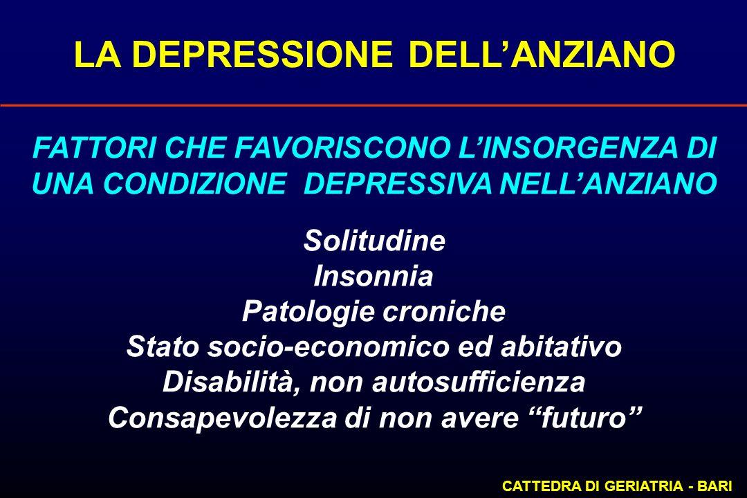 LA DEPRESSIONE DELL'ANZIANO