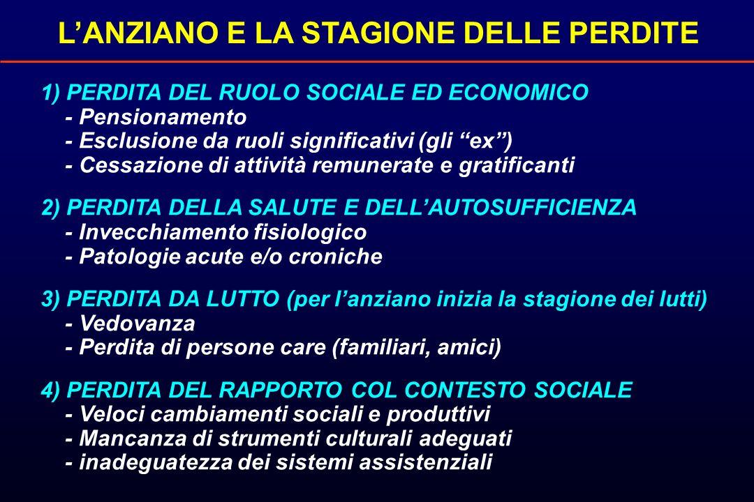 L'ANZIANO E LA STAGIONE DELLE PERDITE