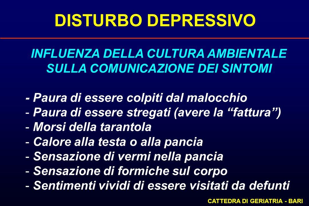 INFLUENZA DELLA CULTURA AMBIENTALE SULLA COMUNICAZIONE DEI SINTOMI