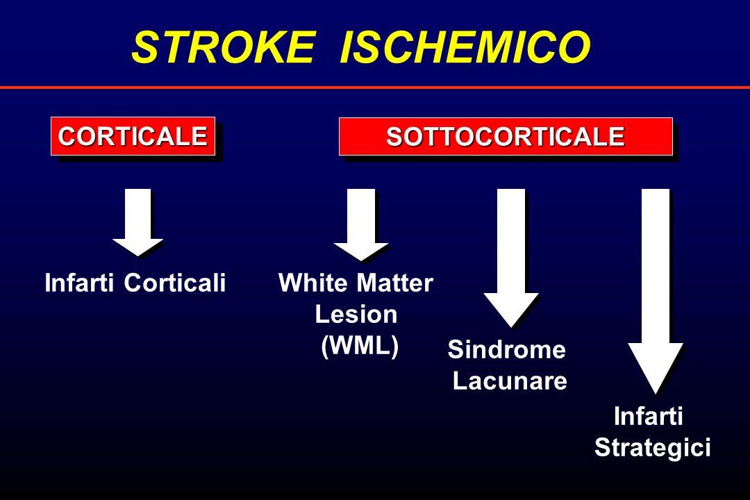 STROKE ISCHEMICO CORTICALE SOTTOCORTICALE Infarti Corticali