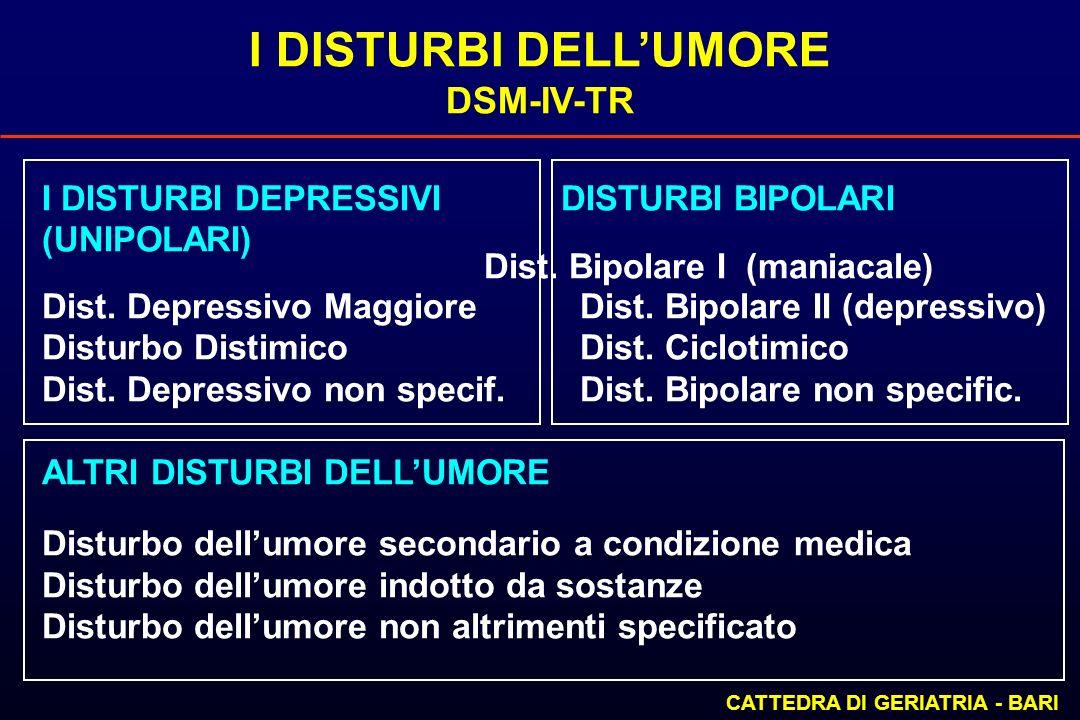 I DISTURBI DELL'UMORE DSM-IV-TR