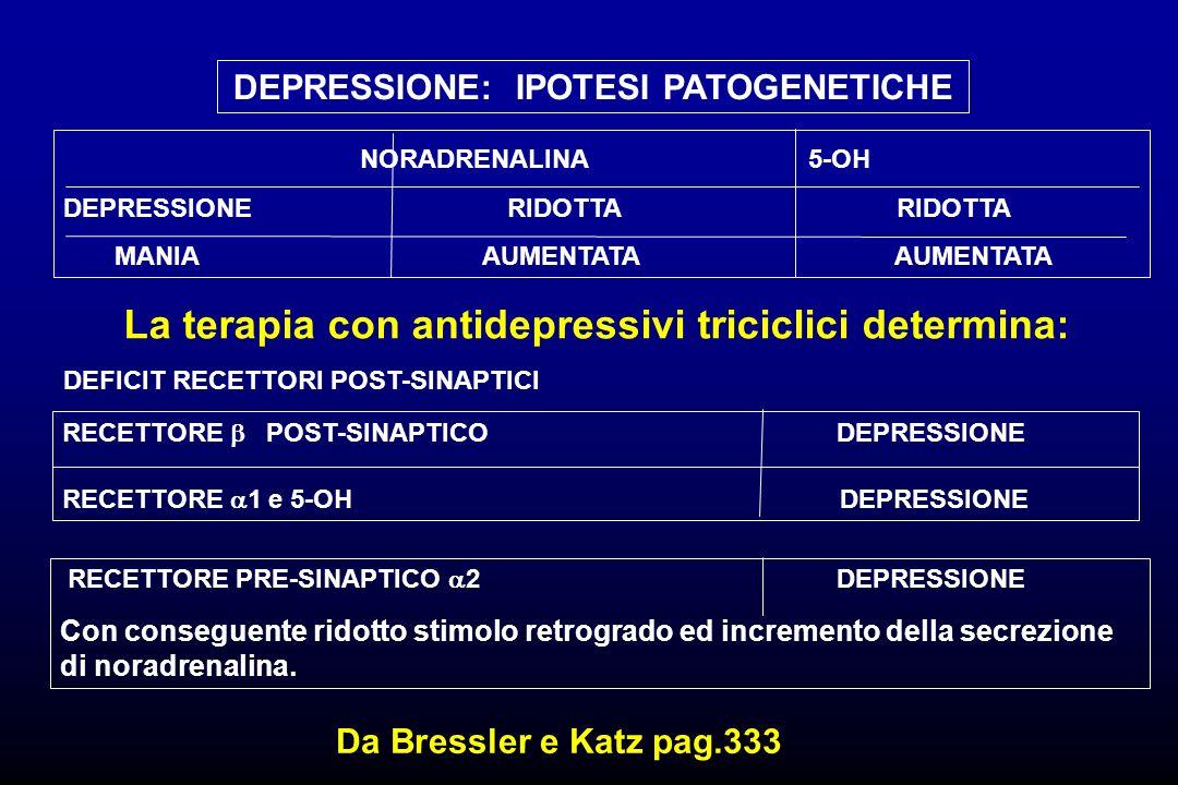 La terapia con antidepressivi triciclici determina: