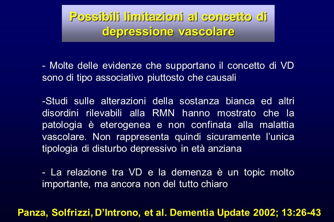 Possibili limitazioni al concetto di depressione vascolare