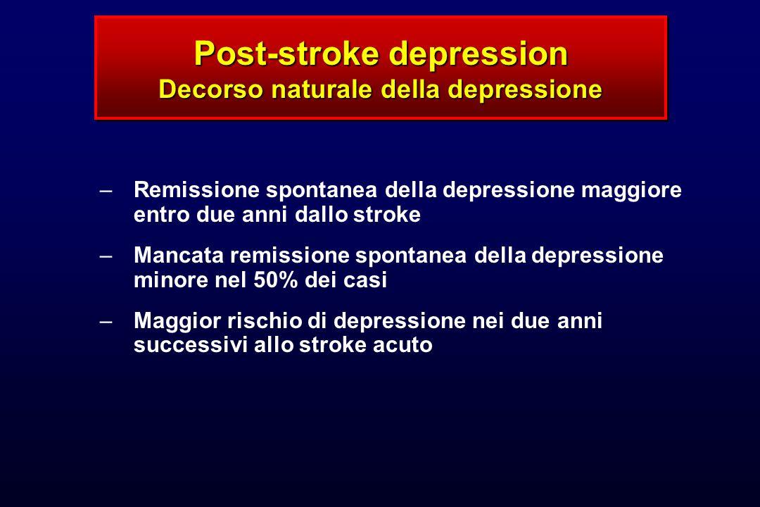 Post-stroke depression Decorso naturale della depressione