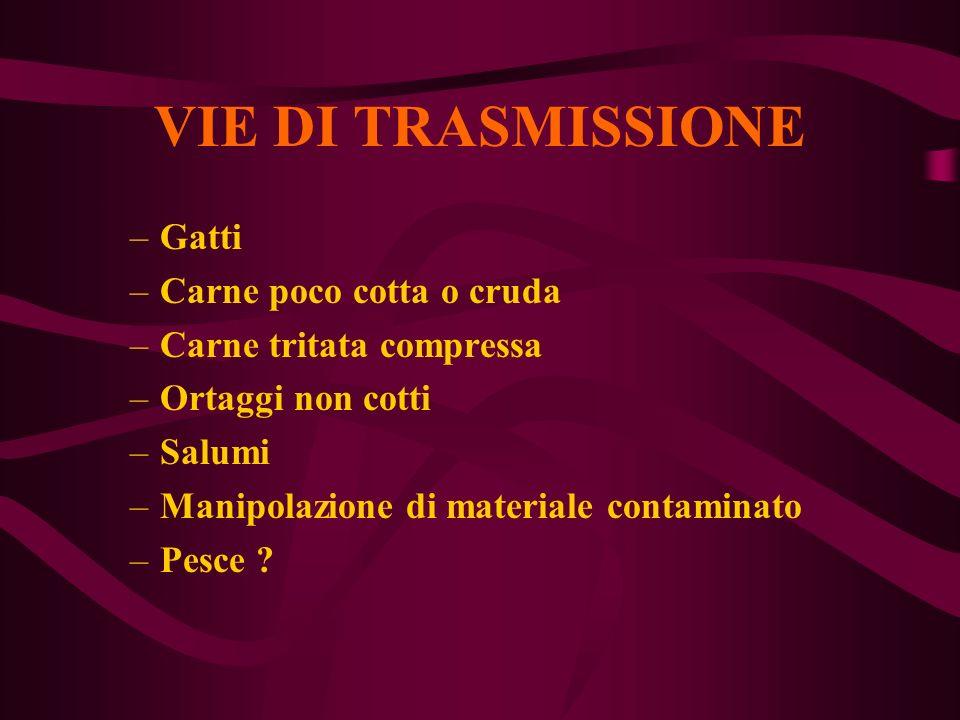 VIE DI TRASMISSIONE Gatti Carne poco cotta o cruda