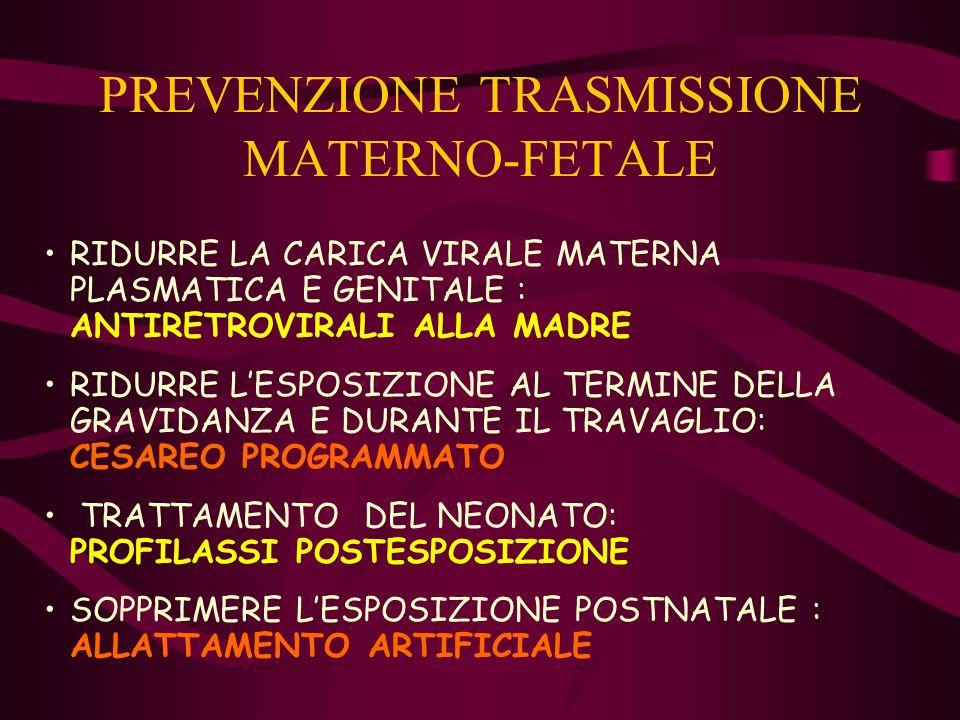 PREVENZIONE TRASMISSIONE MATERNO-FETALE