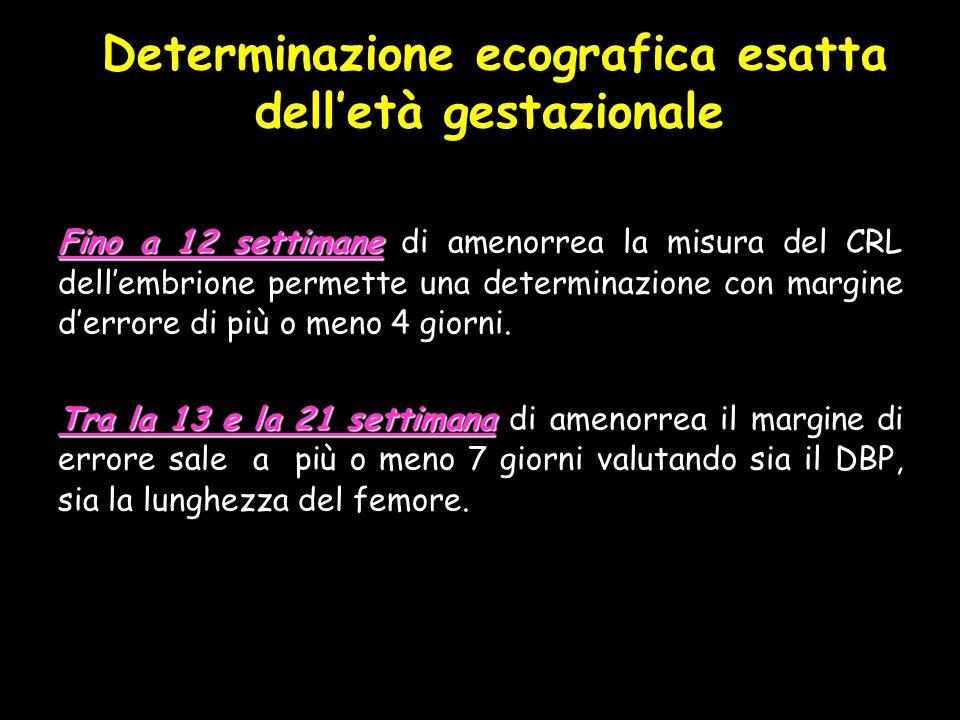 Determinazione ecografica esatta dell'età gestazionale