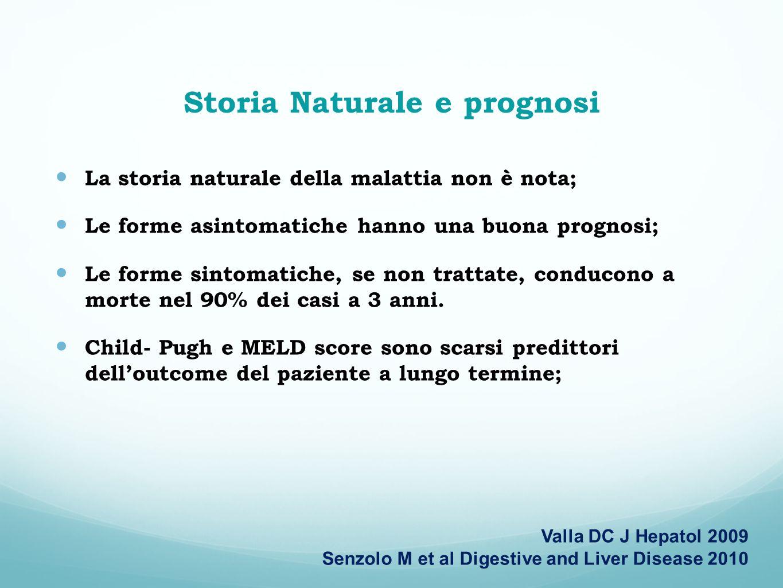 Storia Naturale e prognosi