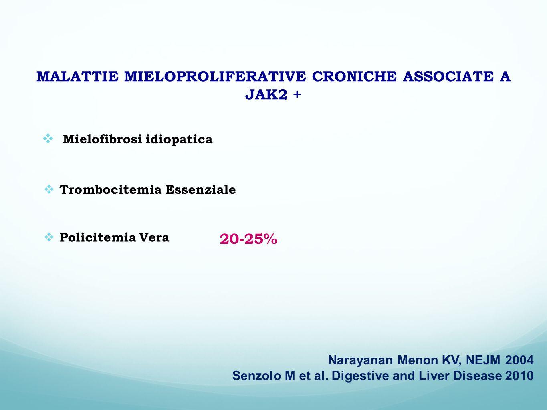 MALATTIE MIELOPROLIFERATIVE CRONICHE ASSOCIATE A JAK2 +