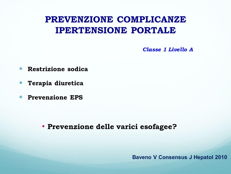 PREVENZIONE COMPLICANZE IPERTENSIONE PORTALE