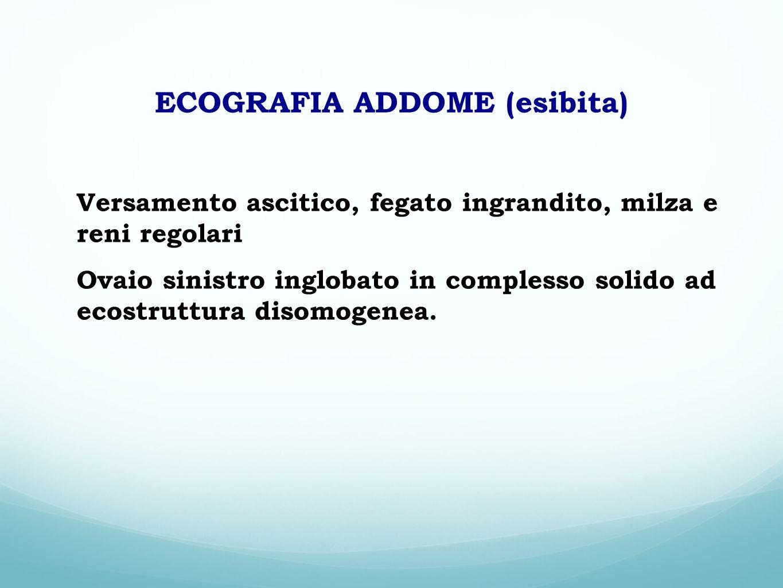 ECOGRAFIA ADDOME (esibita)