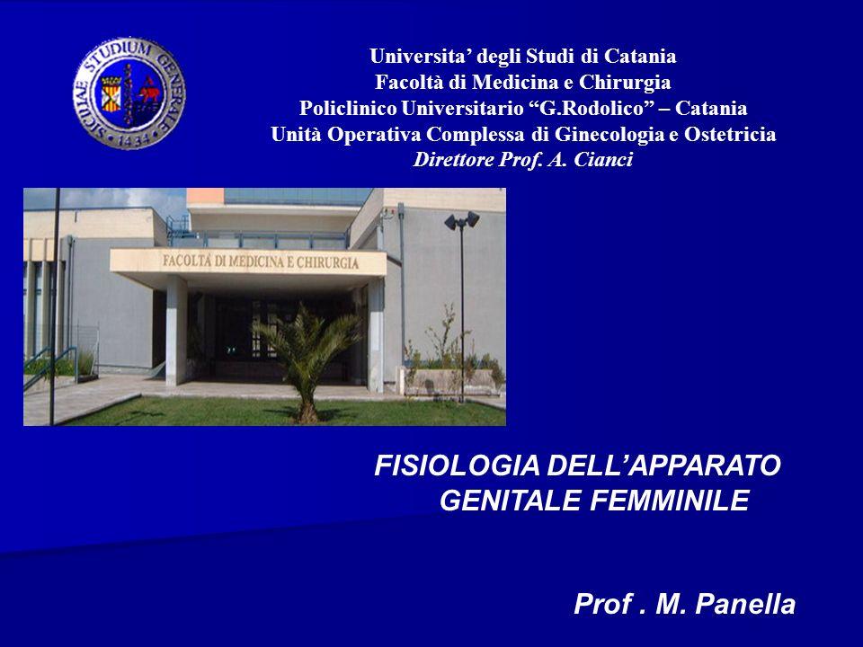 FISIOLOGIA DELL'APPARATO GENITALE FEMMINILE
