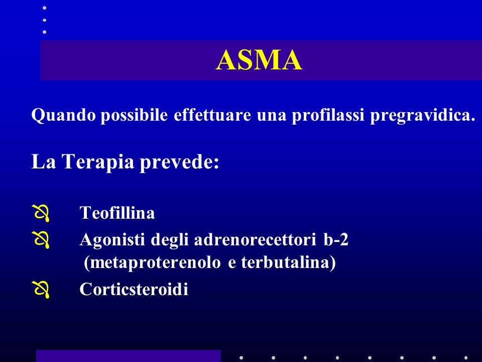 ASMA La Terapia prevede: