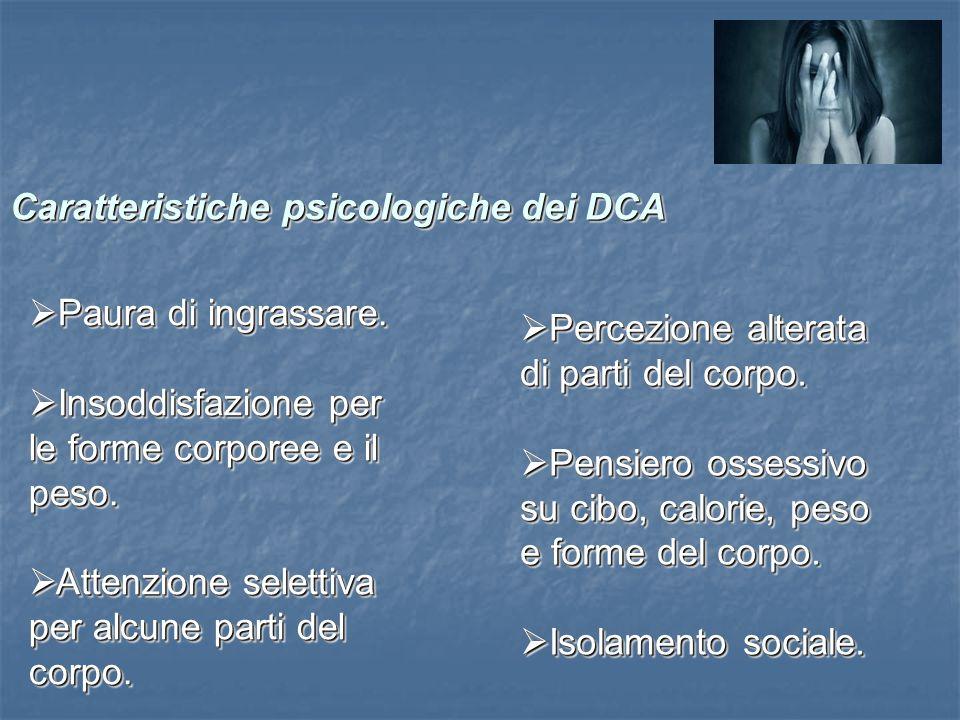 Caratteristiche psicologiche dei DCA