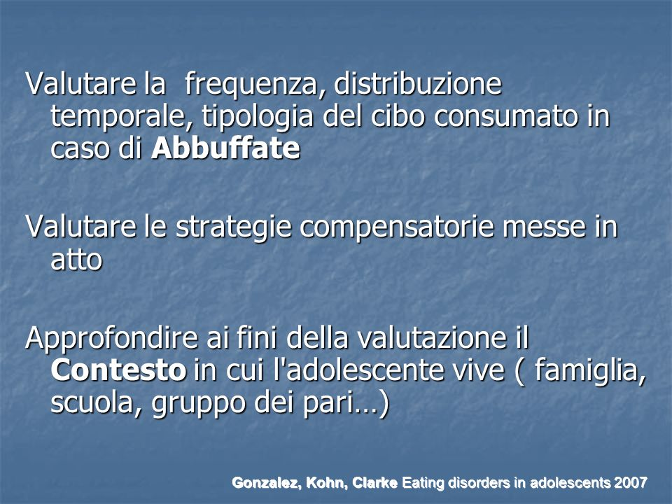 Valutare le strategie compensatorie messe in atto