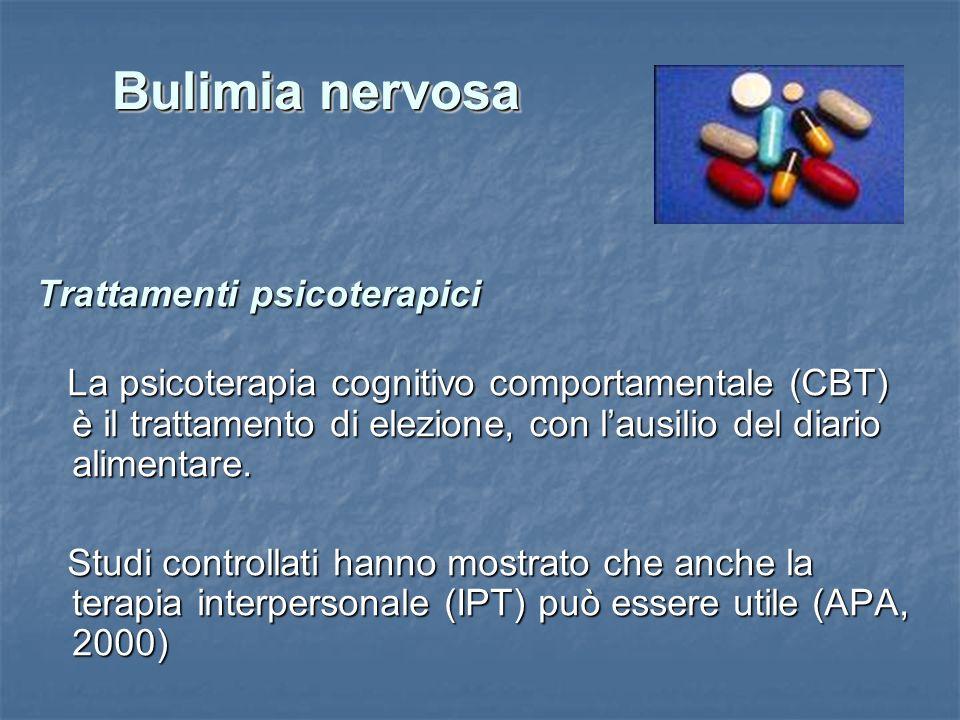 Bulimia nervosa Trattamenti psicoterapici