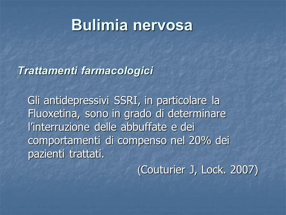 Bulimia nervosa Trattamenti farmacologici