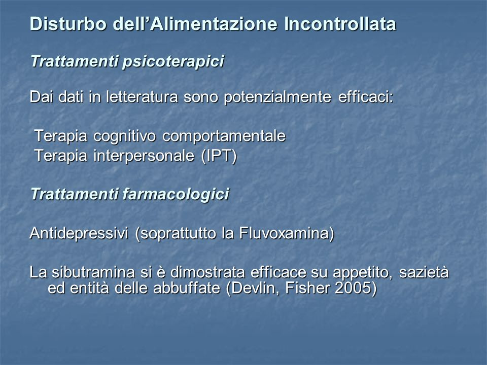 Disturbo dell'Alimentazione Incontrollata
